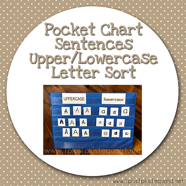 Pocket Chart Upper & Lowercase Letter Sort