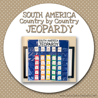 GROUP USE: SOUTH AMERICA Country by Country JEOPARDY