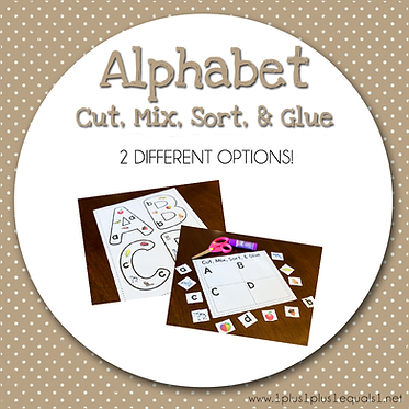 Alphabet Cut, Mix, Sort & Glue