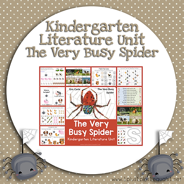The Very Busy Spider Kindergarten Literature Unit