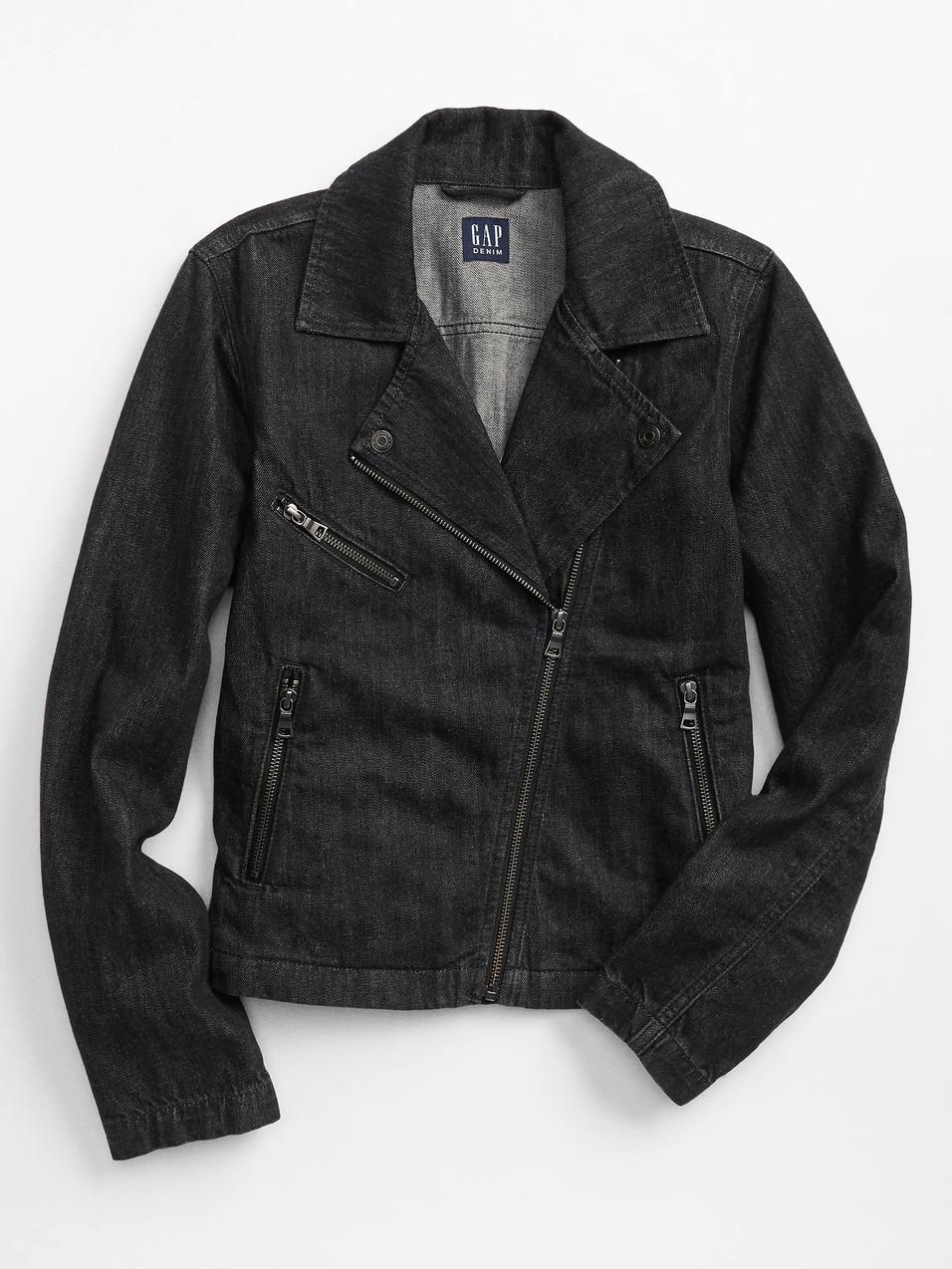 GAP Factory, Denim Moto Jacket