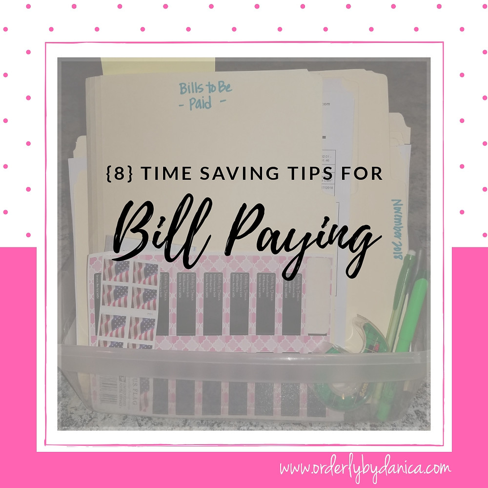 Time Saving Tips For Bill Paying