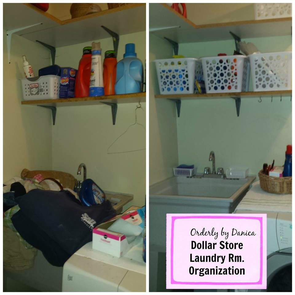 Dollar Store Laundry Organization