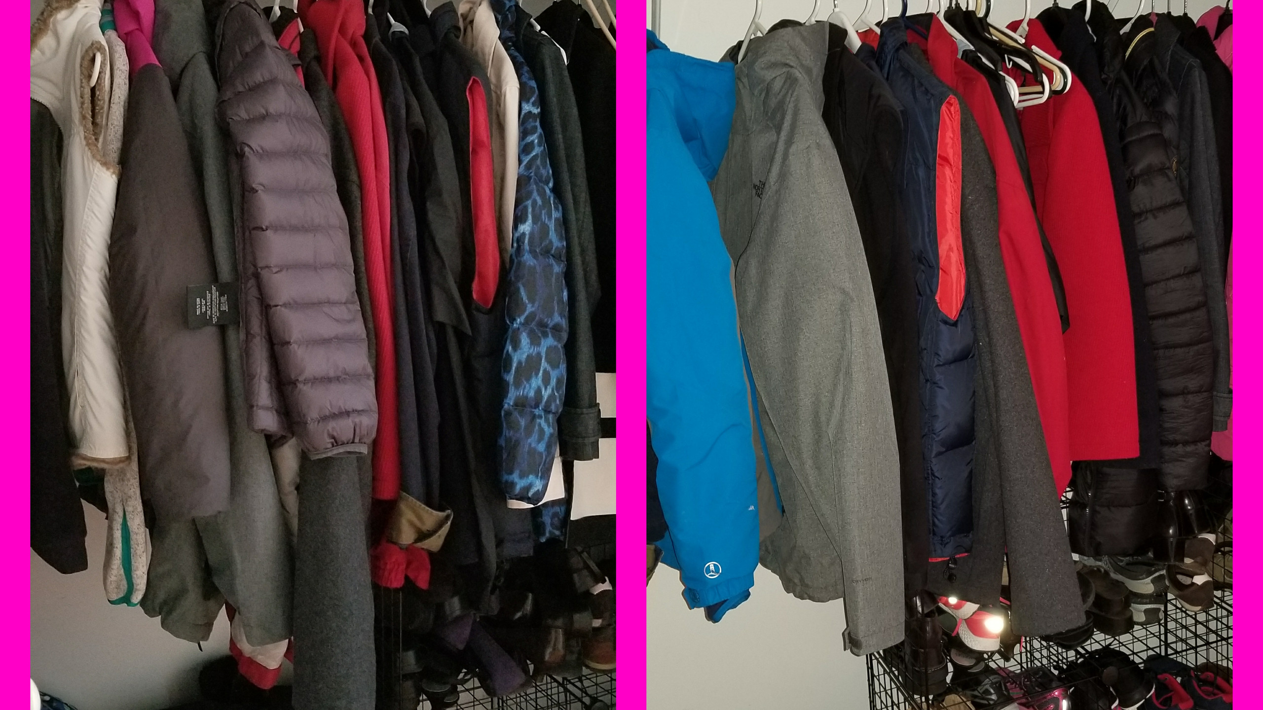 Closet, before & after