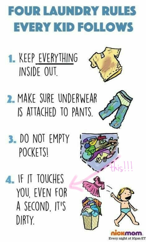 Laundry Rules for Kids
