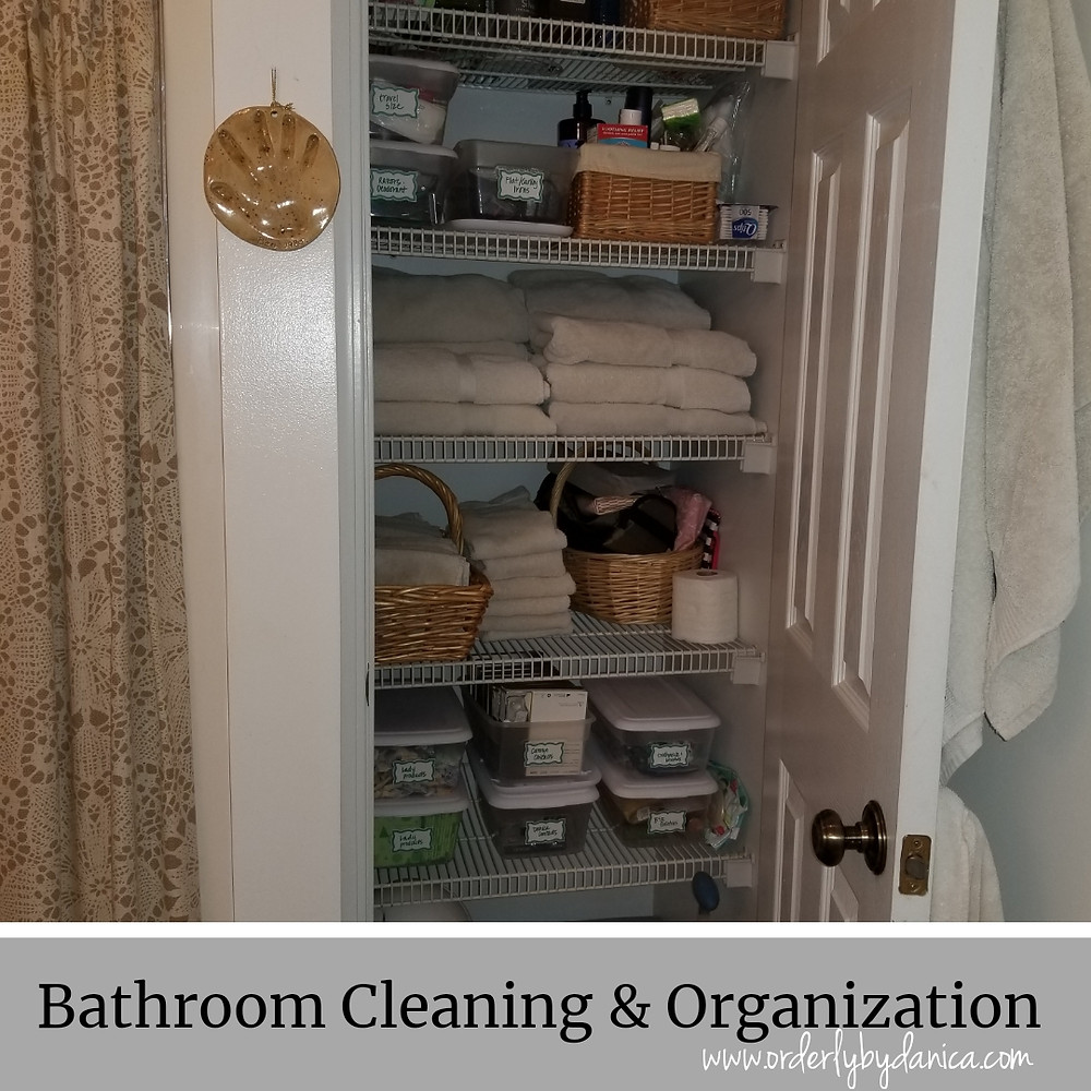 Bathroom Cleaning & Organization