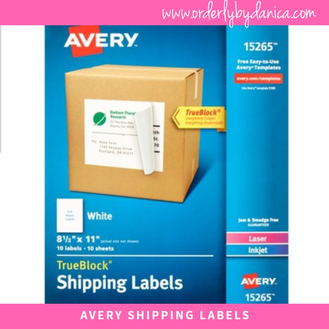 Avery Full Page Labels
