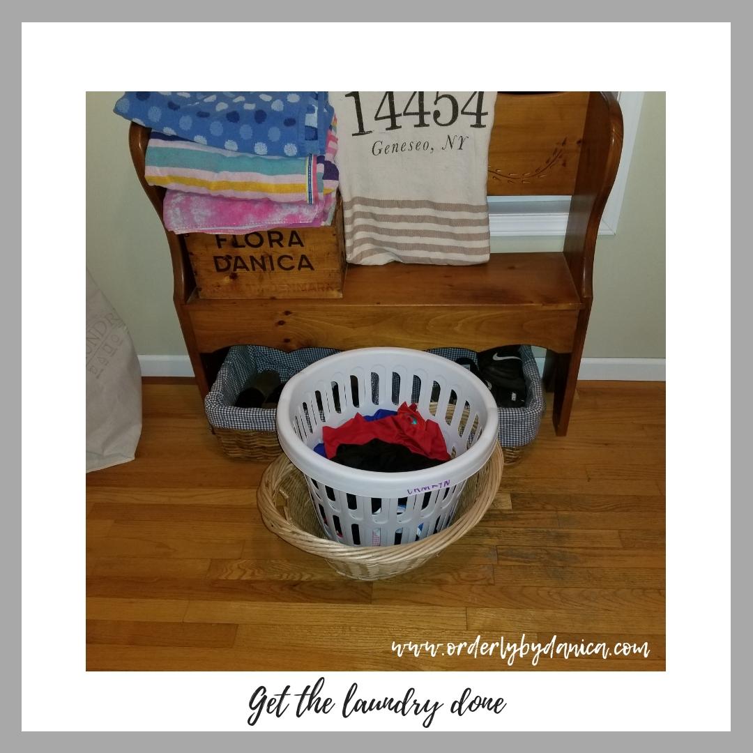 Finish the laundry