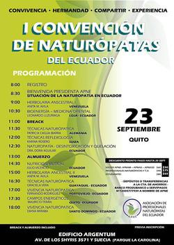 I Convencion de Naturopatia Ecuador
