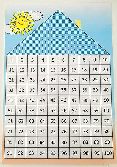 משחק פזל לוח המאה - קובץ דיגיטלי