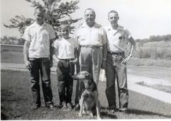 1956 or '57 Robert, Dennis, Grandpa Brun