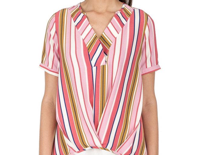 49F3592 • Pink Multi Stripe (Min. 6 pcs)