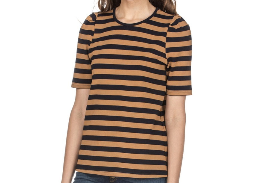 45G3702 • Brown Navy Stripe