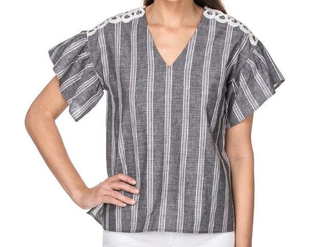 44F3689 • Grey Stripe Shirting