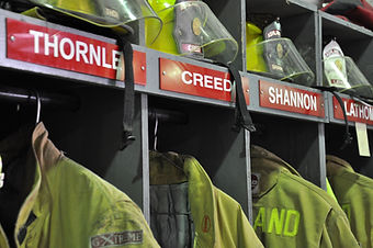 Picture of Firefighter gear lockers