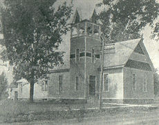 Picture of one of the churches being built