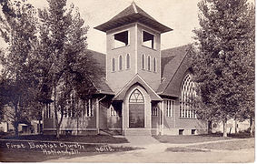 Historical picture of First Baptist church