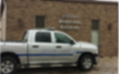 Ashland Police truck in front of Village Hall