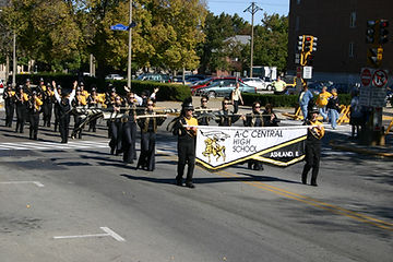 AC Central Marching Band in parade