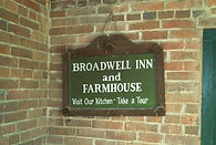 Sign at Broadwell Inn and Farmhouse in Clayville