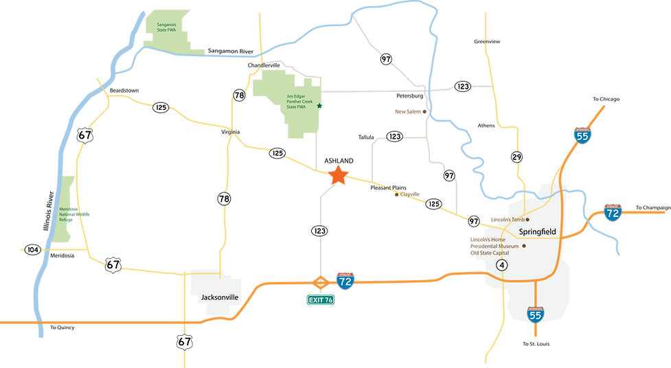 Map of Ashland