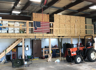 New Storage Built at Village Hall