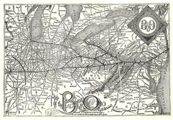 B&O 1891 Route Map