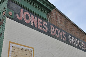 Side of Jones Boys Grocery Building
