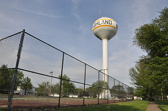 Tennis Courts with water tower in the background