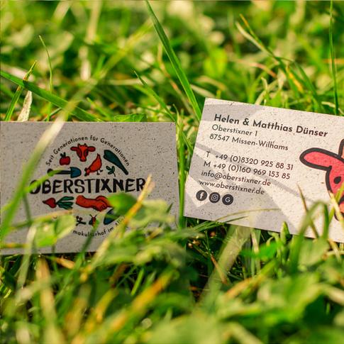 Oberstixner Visitenkarten Gras