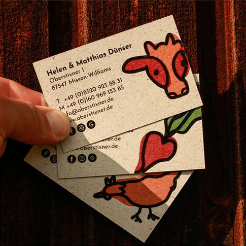 Oberstixner Visitenkarten Rückseite