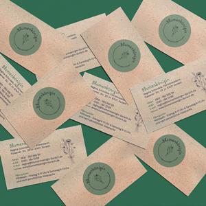 Visitenkarten Graspapier