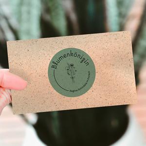 Visitenkarte Graspapier