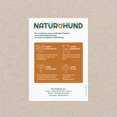 naturahund Postkarten Rückseite