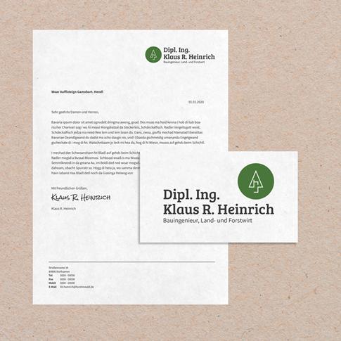 Briefpapier Klaus Heinrich