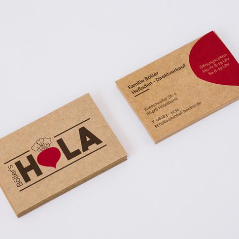Böller's HOLA Visitenkarten