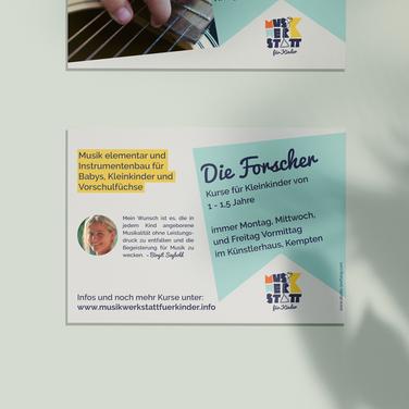 Musikwerkstatt für Kinder Postkarte