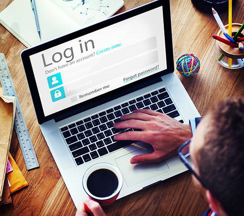 Business Man Account LogIn Security Prot