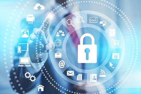 Internet security online business concep