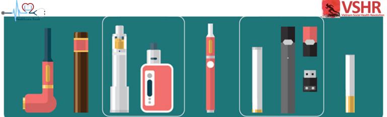 Thuốc lá điện tử có nhiều loại và nhiều hình dạng khác nhau