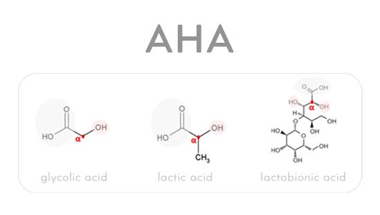 Cấu trúc hóa học của AHA