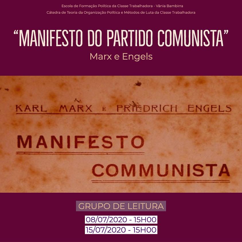 """Grupo de Leitura - """"Manifesto Comunista"""" de Karl Marx e Friedrich Engels"""