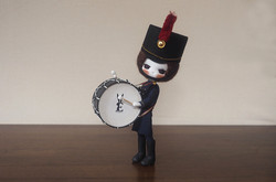 Marching Toy Soldier with Bass Drum