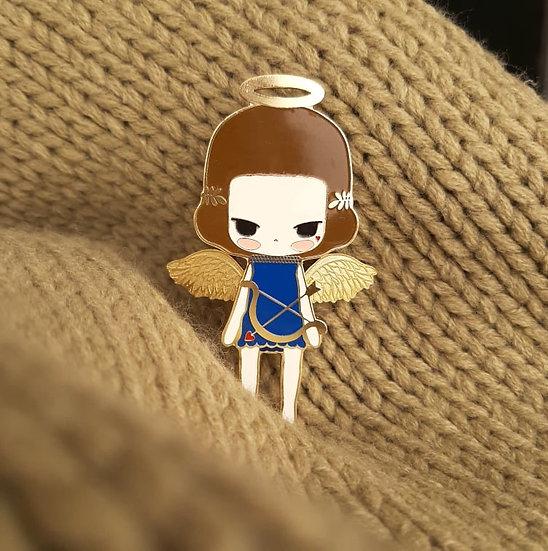 Cupid enamel pin (gold)