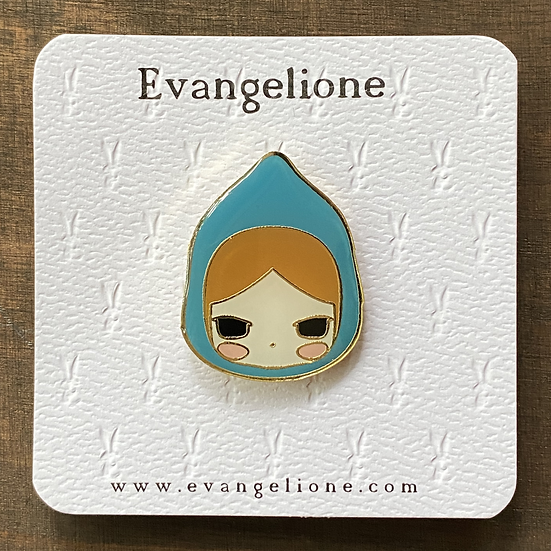 Blue Ridding Hood Enamel Pin