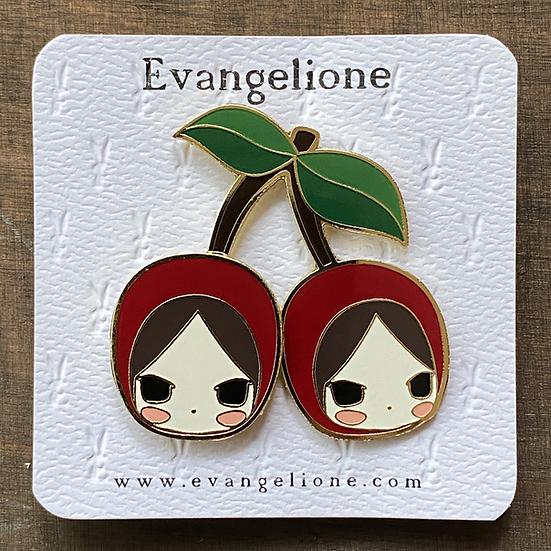Cherries Enamel Pin