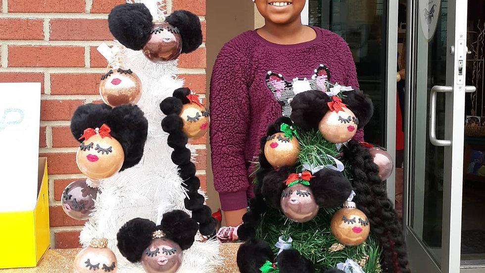 Melanin Ornaments Personalized Keepsakes