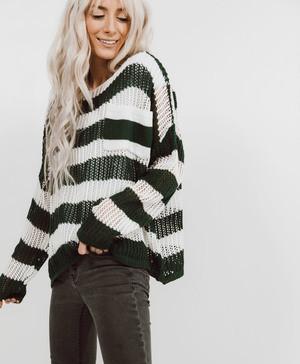 Redwood Stripe Sweater Tunic