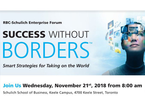 RBC-Schulich Enterprise Forum on Success Without Borders