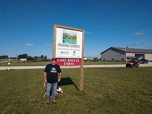 Ozaukee Demontation Farm Network Farmer Brian Karrles of Lake Breeze Farm